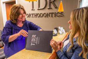 TDR Team member with patient